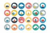 Cloud Computing Flat Vector Icons 1 — Stock Vector