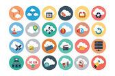 Cloud Computing Flat Vector Icons 3 — Stock Vector