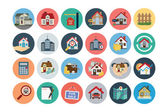 Flat Real Estate Vector Icons 1 — Stock Vector