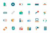 Electronics Colored Vector Icons 3 — Stock Vector