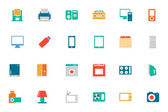 Electronics Colored Vector Icons 1 — Stock Vector
