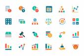 Banking and Finance Colored Vector Icons 2 — Stock Vector