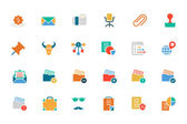 Banking and Finance Colored Vector Icons 8 — Stock Vector