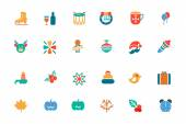 Christmas Colored Vector Icons 4 — Stock Vector