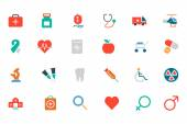 Medical Colored Vector Icons 1 — Stock vektor