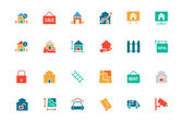 Real Estate Colored Vector Icons 3 — Stock Vector
