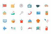 Hotel and Restaurant Colored Vector Icons 1 — Stock Vector