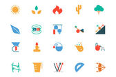 Science Colored Vector Icons 7 — Stock Vector