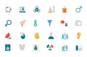 Science Colored Vector Icons 3 — Stock Vector