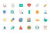 Science Colored Vector Icons 2 — Stock Vector
