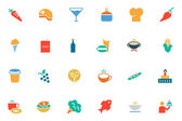 Food and Drinks Vector Colored Icons 2 — Stock Vector