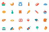 Food and Drinks Vector Colored Icons 6 — Stock Vector
