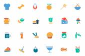 Food and Drinks Vector Colored Icons 5 — Stock Vector