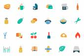 Food and Drinks Vector Colored Icons 11 — Stock Vector