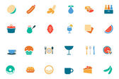 Food and Drinks Vector Colored Icons 13 — Stock Vector