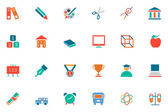 Education Colored Vector Icons 10 — Stock Vector