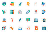 Education Colored Vector Icons 3 — Stock Vector