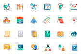 Education Colored Vector Icons 6 — Stock Vector