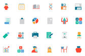 Education Colored Vector Icons 12 — Stock Vector