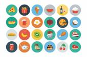 Food Flat Vector Icons 2 — Stock Vector