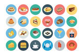 Food Flat Vector Icons 1 — Stock Vector