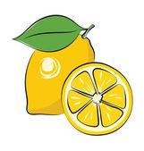 Lemon Hand Drawn Vector Icon — Stock Vector
