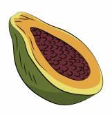 Avocado Hand Drawn Vector Icon — Stock Vector