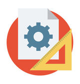 Geometry Tools Vector Icon — Stock Vector