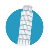 Pisa Tower Vector Illustration — Stock Vector