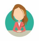 Female Avatar Vector Illustration — Stock Vector
