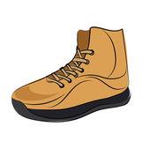Sneaker Colored Sketchy Vector Icon — Stock Vector