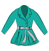 Dress Coat Hand Drawn Vector Icon — Stock Vector