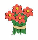 Bouquet Hand Drawn Sketchy Vector Icon — Stock Vector