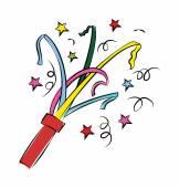 Confetti Colored Vector Icon — Stock Vector