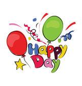 Happy Day Sketchy Colored Vector Icon — Stock Vector