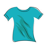 Shirt Sketchy Colored Vector Icon — Stock Vector