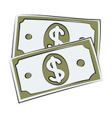 Currency Note Hand Drawn Vector Icon — Stock Vector