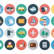 ������, ������: Flat Travel and Tourism Vector Icons 1