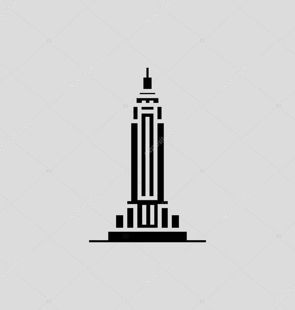 Empire State Building Black