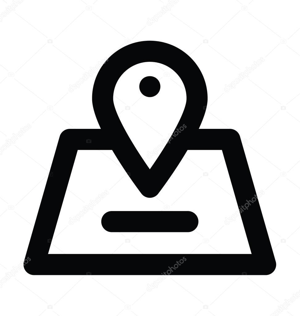 地图定位器粗线矢量图标