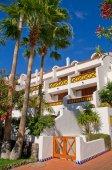 Hotel on the beach — Stock Photo