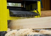 Work  woodworking the machine tool — Stock Photo