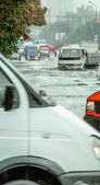 Flooding in the city — Stock Photo