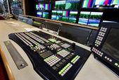 Remote control in a television studio recording. — Fotografia Stock