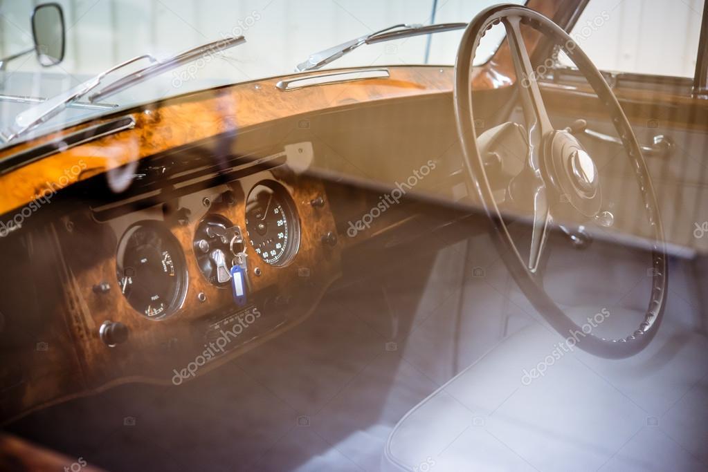 interior retro car inside stock photo absurdov 90874790. Black Bedroom Furniture Sets. Home Design Ideas