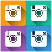 Icona fotocamera foto di hipster — Vettoriale Stock