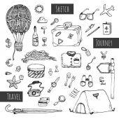Conjunto de iconos de viajes. — Vector de stock
