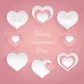 Valentines set.  — Stock Vector