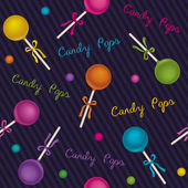 Seamless pattern candy pops — Stock Vector