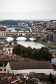 Bridges over the River Arno — Stock Photo